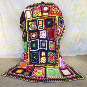 Vintage🌈Psychedelic Patchwork Afghan Throw